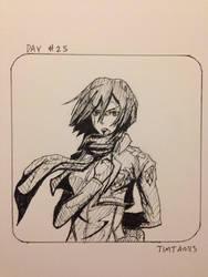 Inktober day #25: Mikasa Ackerman by TimTam13