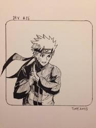 Inktober day #26: Naruto Uzumaki by TimTam13