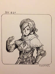 Inktober day #27: Bherna armour by TimTam13