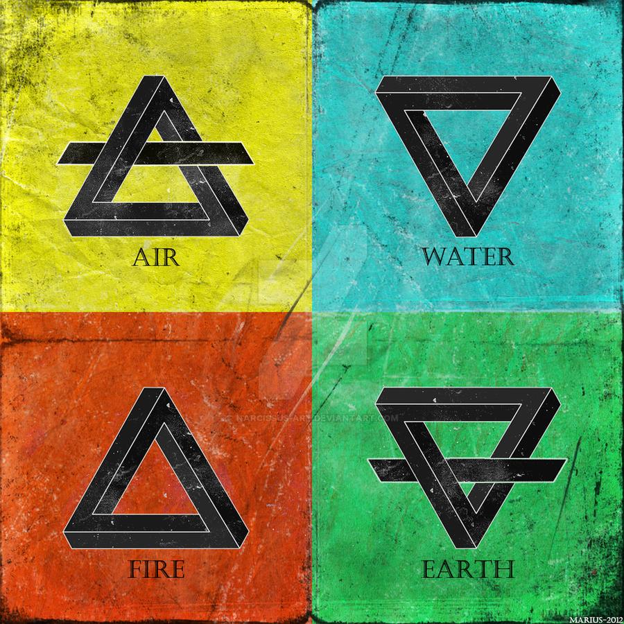 Огонь-земля воздух-вода тату