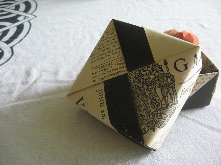 Virginia Gazette Origami Box By White Rose Tree On Deviantart
