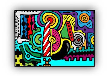 Marker mosaic by el-Barto-Stencils
