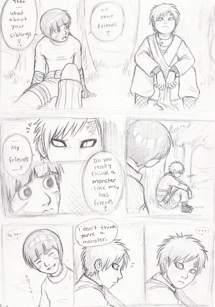 Lee and Gaara Doujinshi -- p2 by nocturnalMoTH on DeviantArt Gaara And Rock Lee Yaoi
