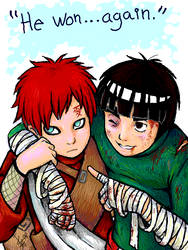 Lee vs Gaara - rivalry