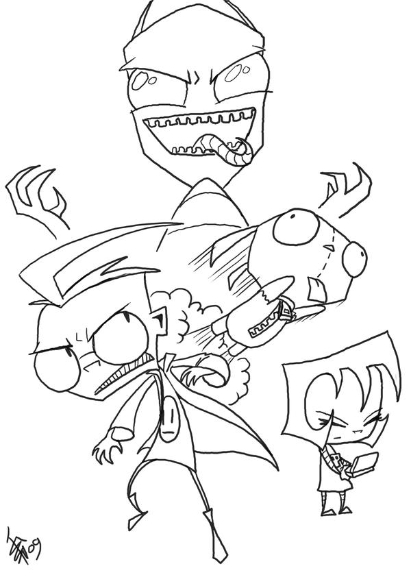 gir invader zim coloring pages - photo#36
