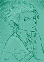 Hitsugaya sketch - turquoise by nocturnalMoTH