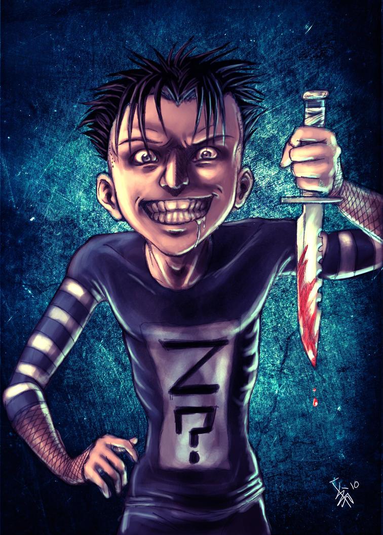 scary joker cartoon