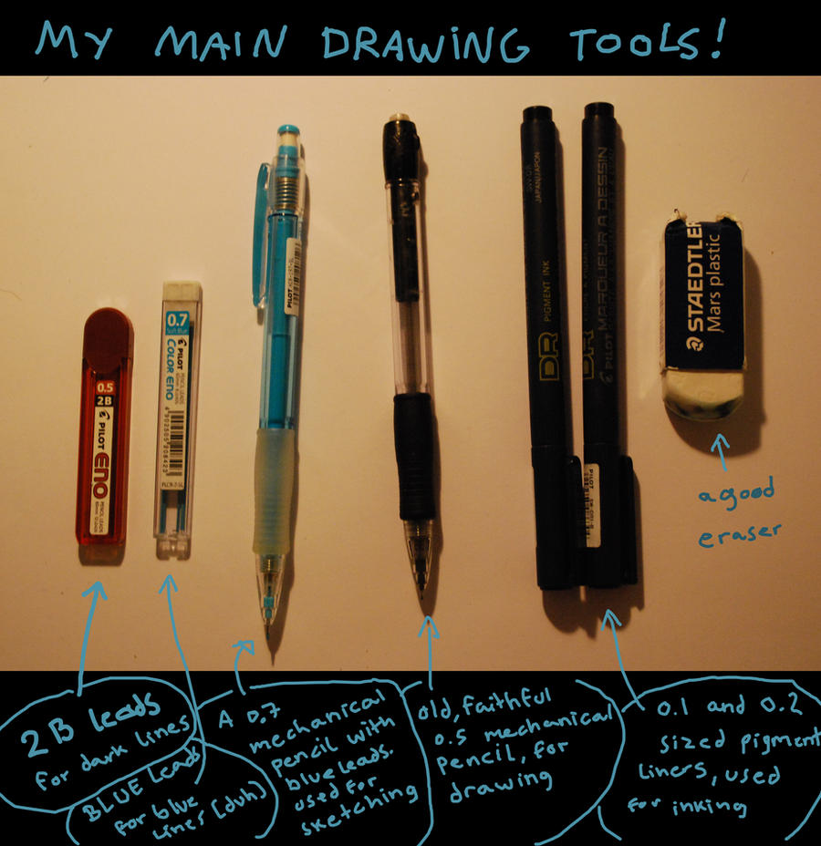 Scribble Drawing Tool : My main drawing tools by nocturnalmoth on deviantart