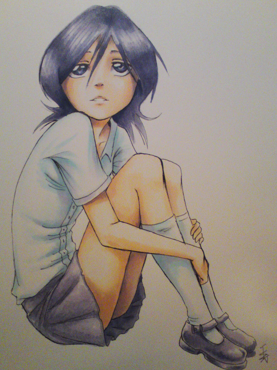 copic practice - Rukia by nocturnalMoTH