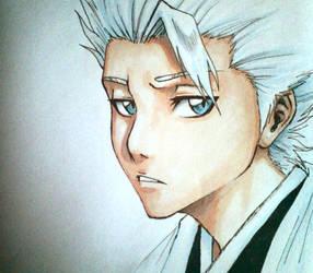 sketchbook art - Hitsugaya by nocturnalMoTH