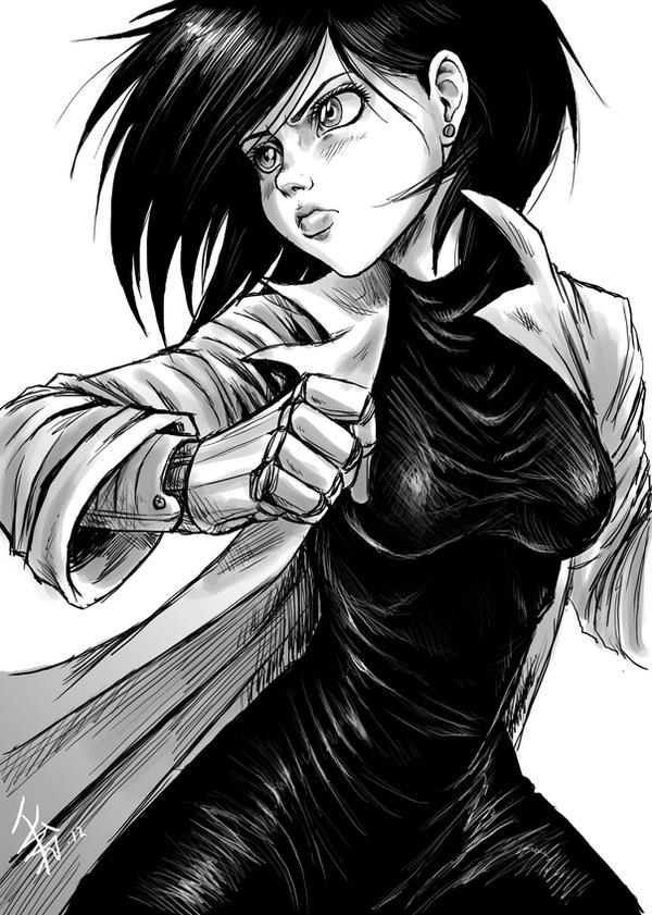 Alita fanart by nocturnalMoTH