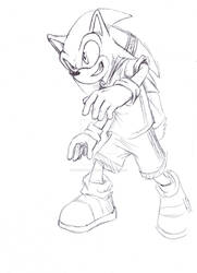 livestream drawing of Sonic