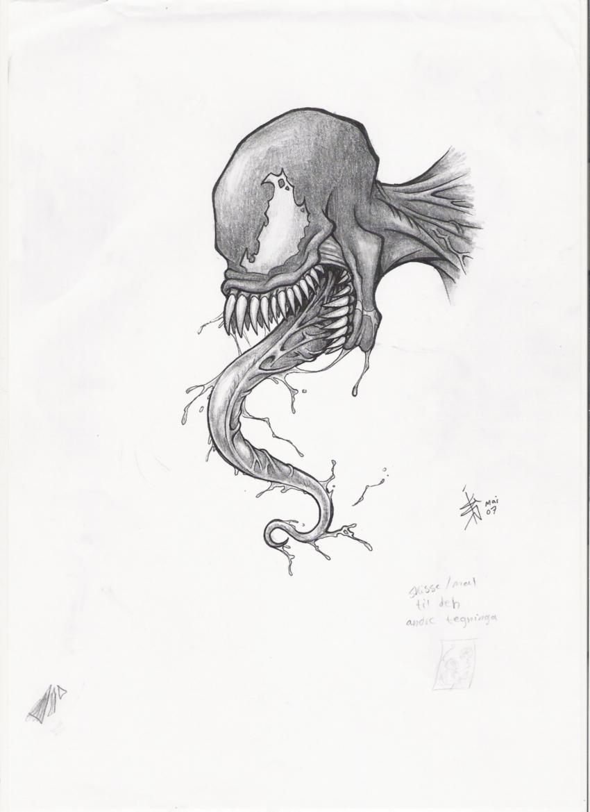 _Venom_sketch by nocturnalMoTH