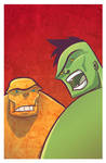 Hulk and Thing