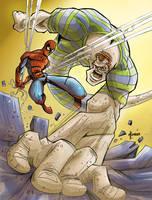 Spiderman vs Sandman by marespro13