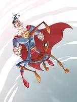 Superman VS Spiderman by marespro13