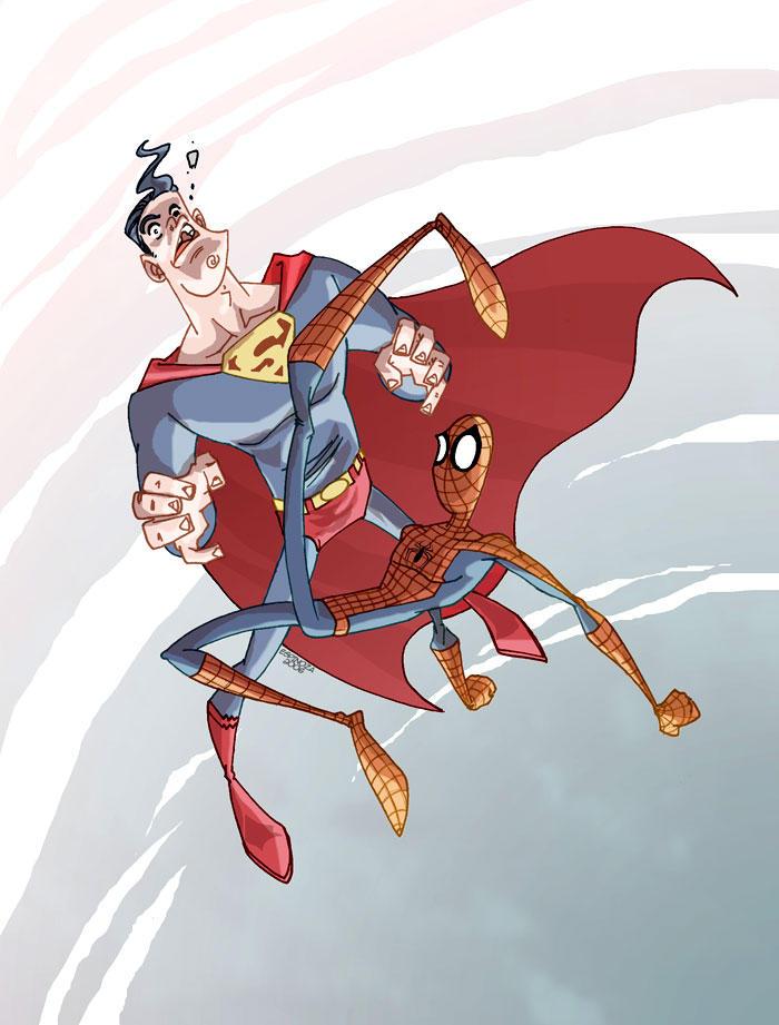 Superman VS Spiderman by marespro13 on DeviantArt