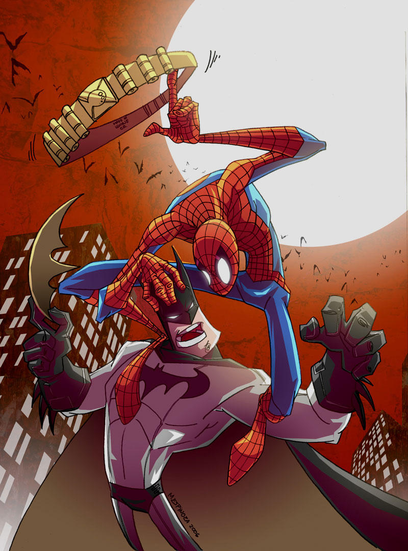 Batman vs Spiderman by marespro13 on DeviantArt