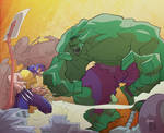 Wolverine vs Hulk Color
