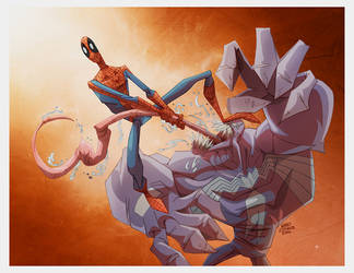 VENOM_vs_SPIDERMAN by marespro13