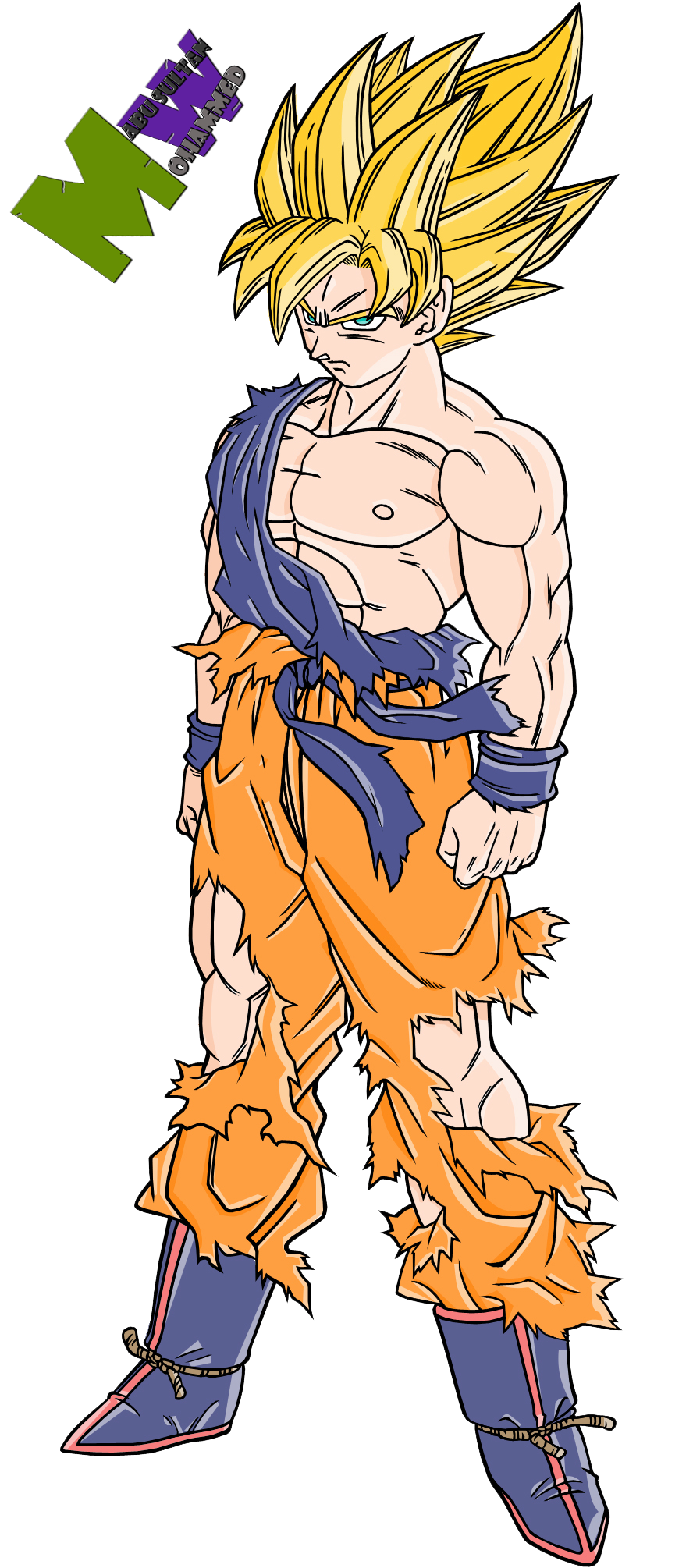 Coloring pages goku -  Goku Super Saiyan 4 Coloring Pages I13 By Alking