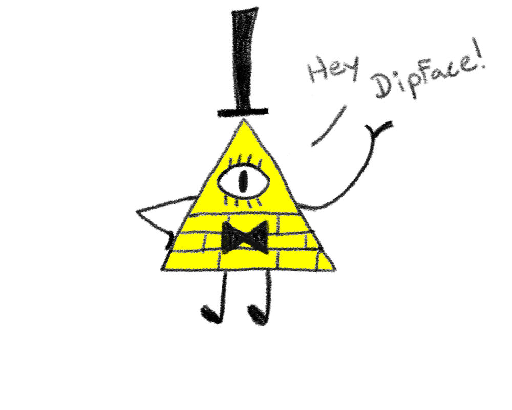 Bill Cipher saying hello! by Shiro-Shishi
