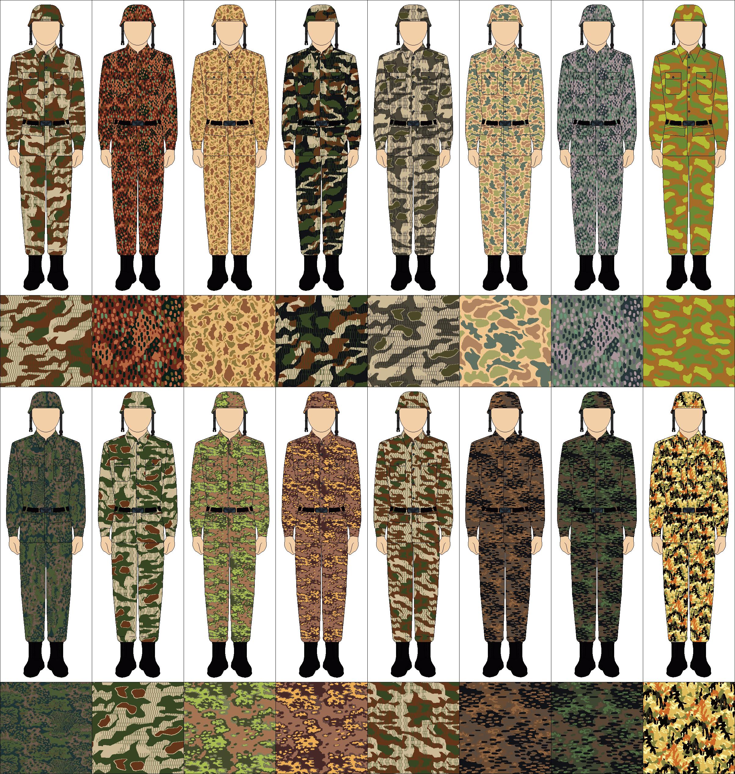 Schéma de Camouflage pour Uniformes Camo_WWII_by_Tounushi