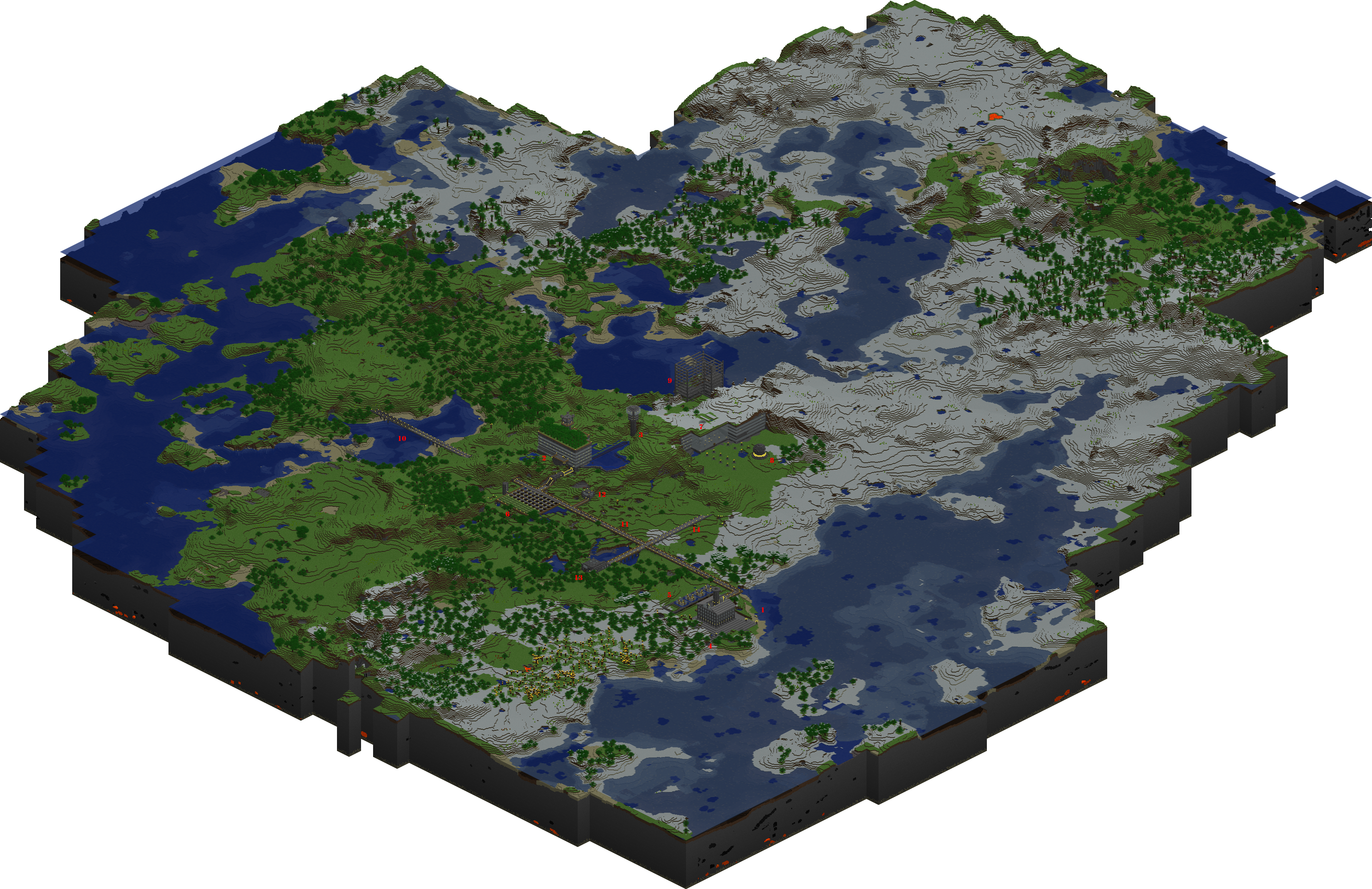 Minecraft Map By Tounushi On DeviantArt - Mapas para minecraft 1 11 2