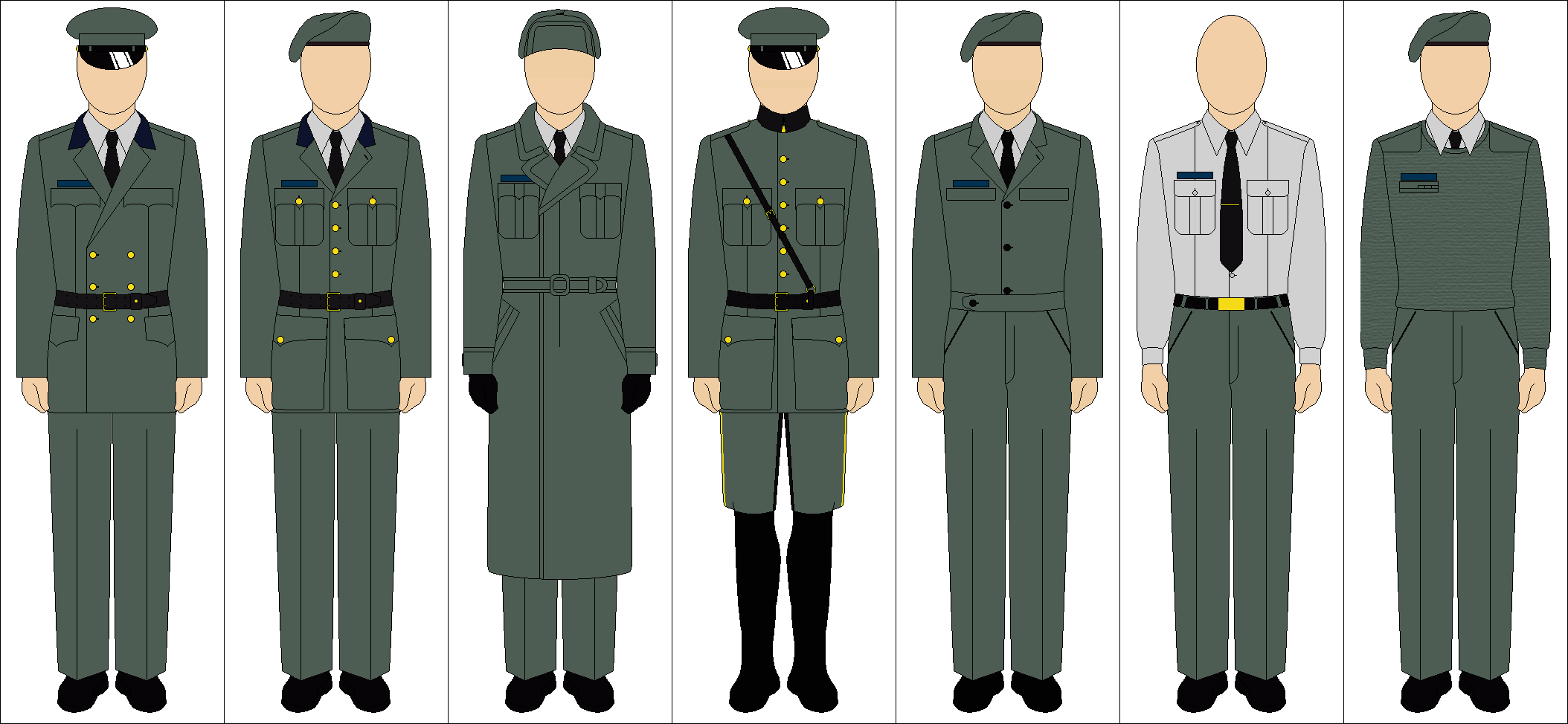 Generic uniforms by Tounushi