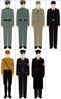 Selection of WWII german uniforms by Tounushi