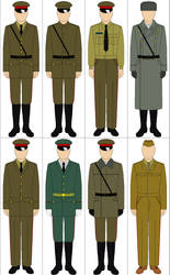 Selection of Cold War Soviet Uniforms by Tounushi