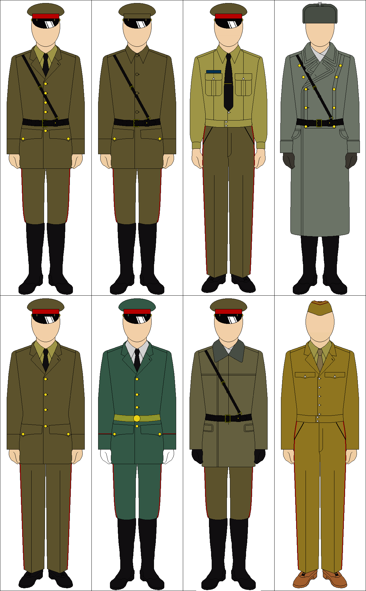 Selection Of Cold War Soviet Uniforms By Tounushi On