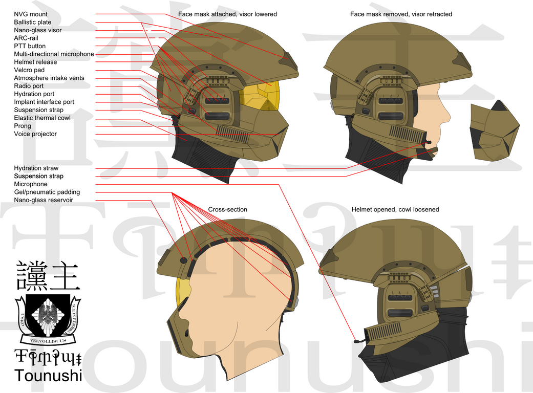 m12A1 Integrated Combat Helmet by Tounushi