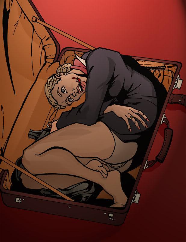 Dead Stewardess in a Suitcase by EyeDraw78