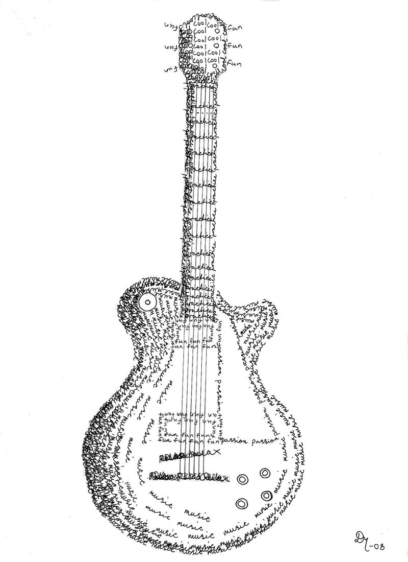 gibson les paul calligraphy by kingdinko on deviantart