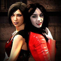 Ada Wong vs Bianca Bordeaux (Title) by NewEvilRising
