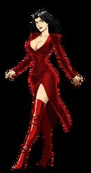 Bianca Bordeaux's Red Dress