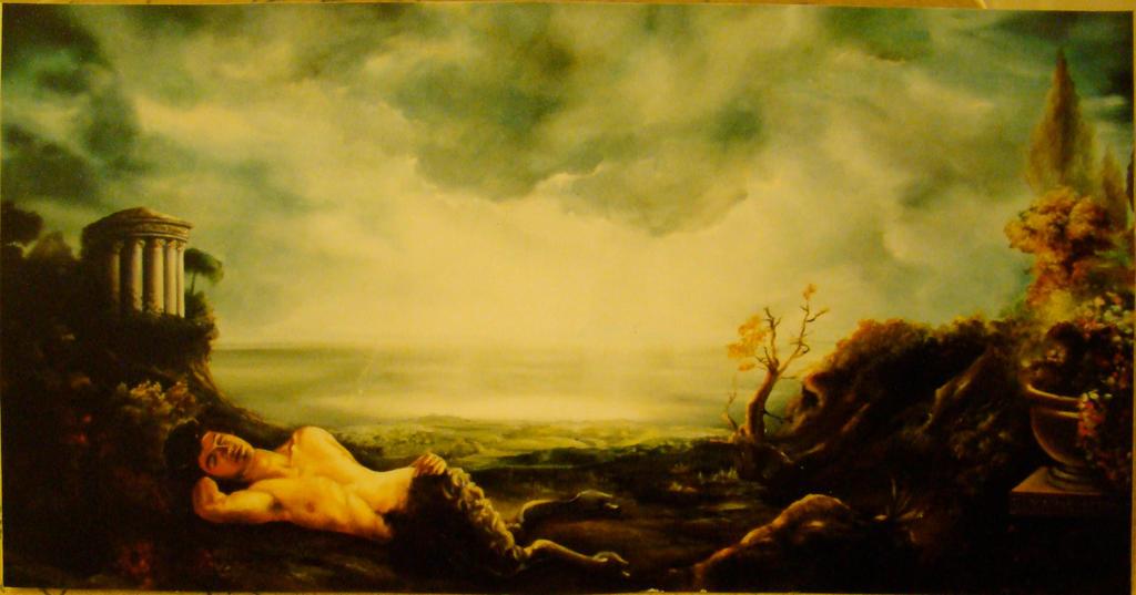 Sleeping Satyr by EvieKatevatis on DeviantArt