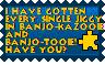Banjo-Kazooie Jiggy stamp by KawaiiSteffu