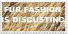 ANTI Fur Fashion stamp by KawaiiSteffu