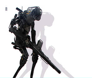 Robot-MM41 / Benoit Godde Concept Artist by Benoit-Godde