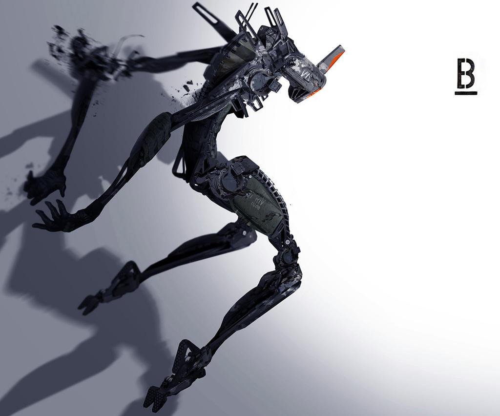 Robot-MM42 / Benoit Godde Concept Artist by Benoit-Godde