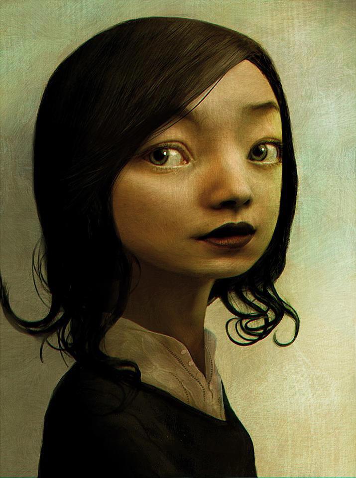 Girl Portrait / Benoit Godde Concept Artist by Benoit-Godde