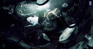 Weyland yutani s shuttle Benoit Godde Concept Art