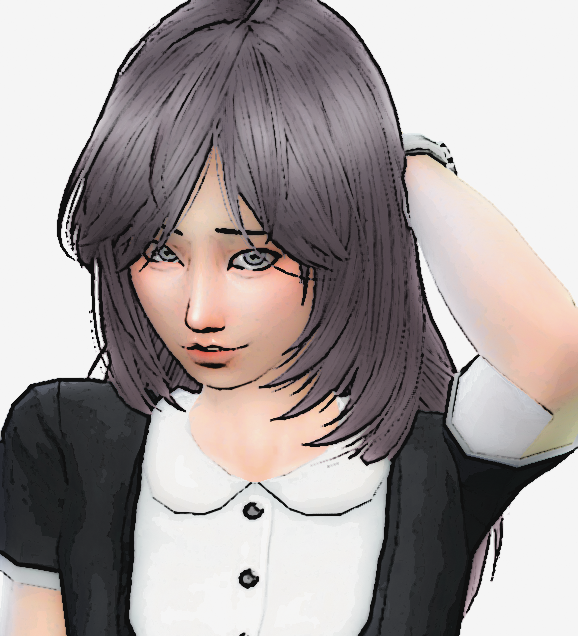 The Sims 4 Anime Shy Maid By Fadhilyudho On Deviantart