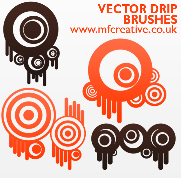 Vector Drip Brushes