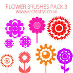 Flower Brushes Pack 3