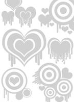 Photoshop Vector Heart Brushes by mfcreative