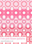 Free pink flower patterns for Photoshop