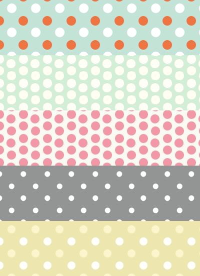 Free polka dot patterns by mfcreative